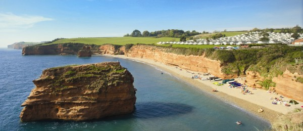 Campsites-in-Devon-near-beach-Ladram-Bay